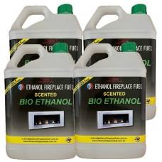 Scented Bio Ethanol Fuel - 4 x 5 Litres (20 Litres)